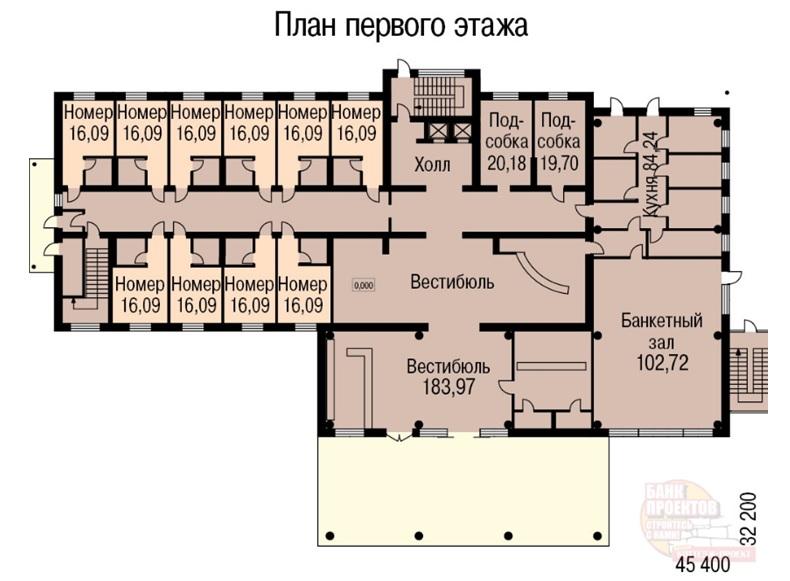 план гостиницы